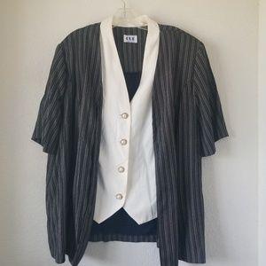 20W 2 PC Jacket and Skirt Set bu Cue